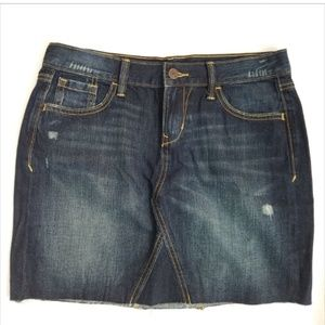 Old Navy distressed denim skirt 4 tall